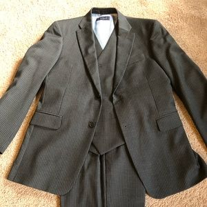 Tommy Hilfiger Charcoal Gray Pinstripe 3 PieceSuit